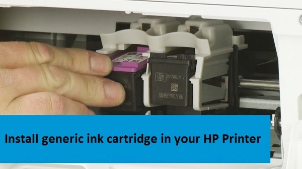 Install generic ink cartridge
