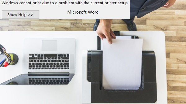 word can't print